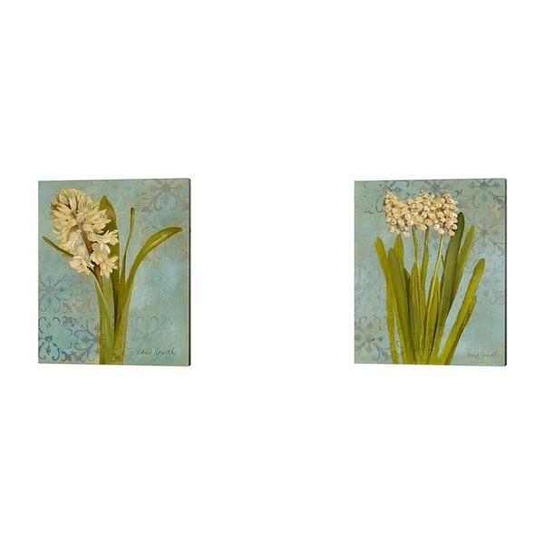 Lanie Loreth 'Hyacinth on Teal' Canvas Art (Set of 2)