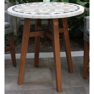 Link to Eilaf Counter-height Spanish Marble & Eucalyptus Table by Havenside Home Similar Items in Patio Furniture