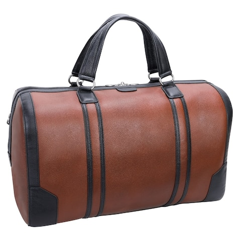 """McKlein USA Kinzie 20"""" Leather, Two-Tone, Tablet Carry-All Duffel"""
