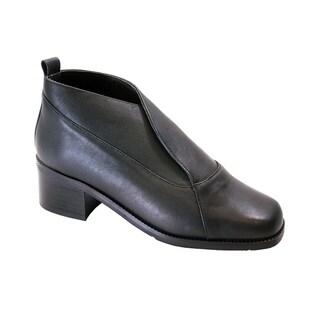PEERAGE Thea Women Extra Wide Width Leather Dress Booties
