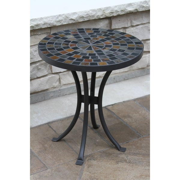Havenside Home Cordora 18-inch Slate Mosaic Accent Table