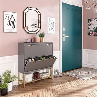 CosmoLiving by Cosmopolitan Brielle Entryway Shoe Storage Cabinet