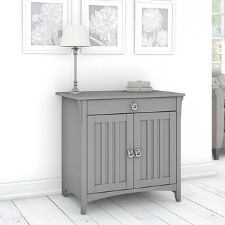 The Gray Barn Lowbridge Secretary Desk with Keyboard Tray and Storage Cabinet