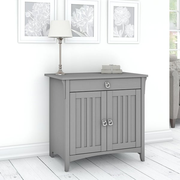 The Gray Barn Lowbridge Secretary Desk with Keyboard Tray and Storage Cabinet. Opens flyout.