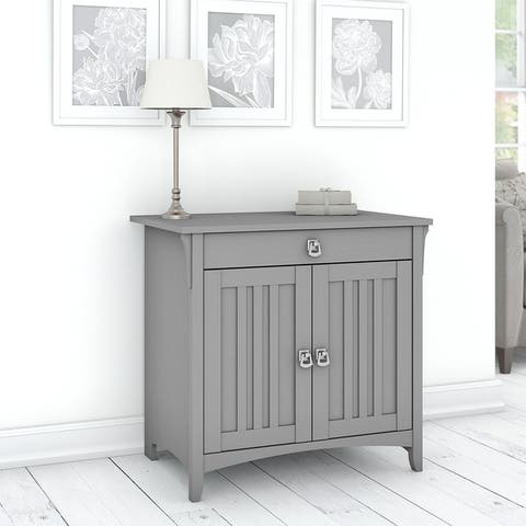The Gray Barn Lowbridge Secretary Desk with Keyboard Tray and Storage Cabinet