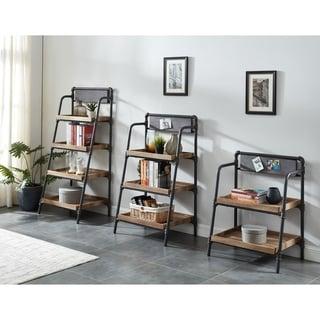 Furniture of America Pham Industrial Brown Metal Display Bookshelf