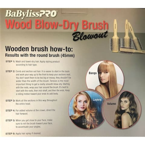 Babyliss BWB Boxwood Pro Blow Dry Brush BWBBOX4