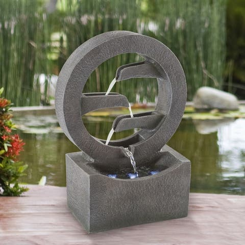 4 Tier Round Cascade Fountain - 7 x 11 x 18.5
