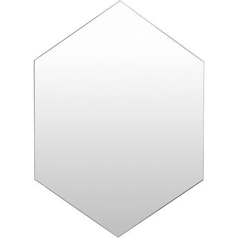 "Iver Modern Silver Hexagon 30 x 42-inch Mirror - 30"" x 42"""