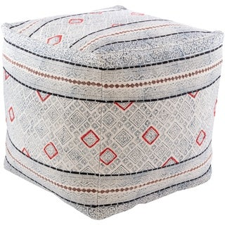 Lukina Global Oriental 18-inch Square Pouf