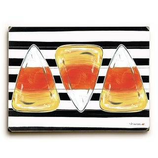 Halloween Candy Corn - Multi  Planked Wood Wall Decor by Timree