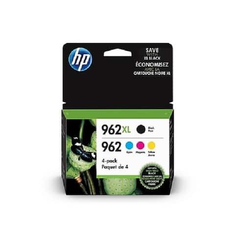 HP 962XL / 962 High Yield Black And Standard Color Ink Cartridges, 4 PK, 3JB34AN