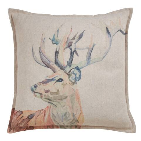 Deer Throw Pillow with Poly Filling