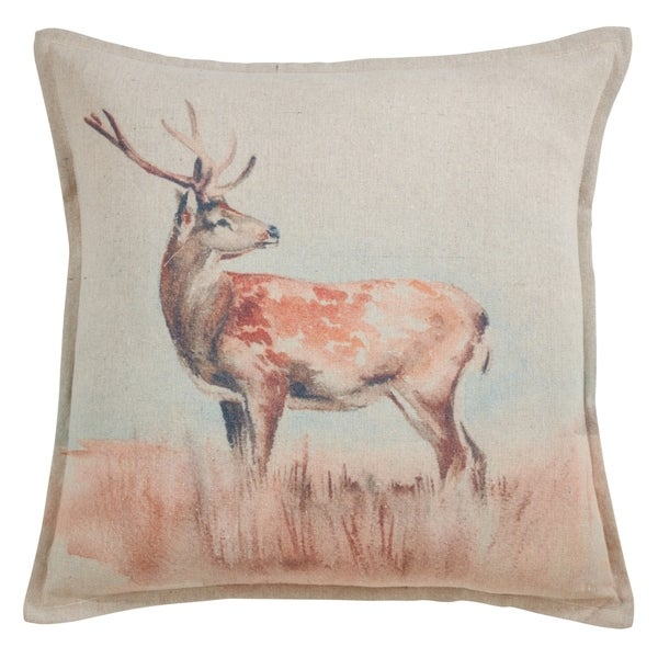 Deer Throw Pillow with Poly Filling. Opens flyout.