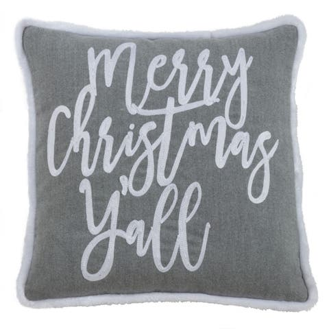 Throw Pillow with Merry Christmas Y'all Design