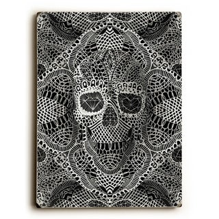 Lace Skull -  Planked Wood Wall Decor by Ali Gulec