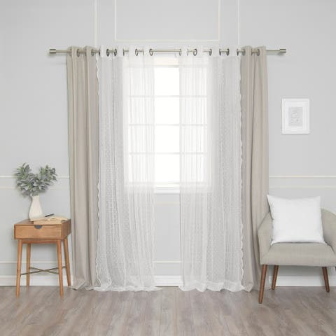 The Gray Barn Selby 4-piece Blackout and Sheer Curtain Panels