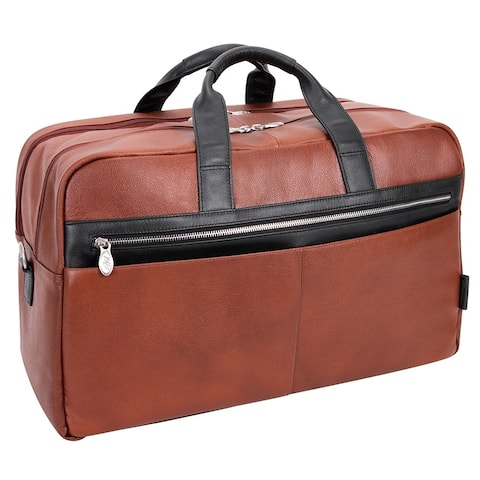 """McKlein USA Wellington 21"""" Leather, Two-tone, Dual-Compartment, Laptop & Tablet Carry-All Duffel"""