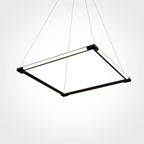 VONN Lighting Atria VRC39104BL 24-inch Integrated LED Chandelier with 180 Degree Rotation of Horizontal Axes