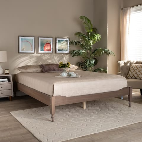 The Gray Barn Melanie Mount French Bohemian Wood Platform Bed Frame