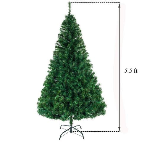 5ft - 7ft Christmas Tree with Solid Metal Legs Perfect for Indoor and Outdoor Holiday Decoration