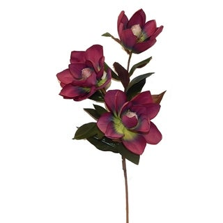 """37"""" tall elegant magnolia blossoms on a long branch"""