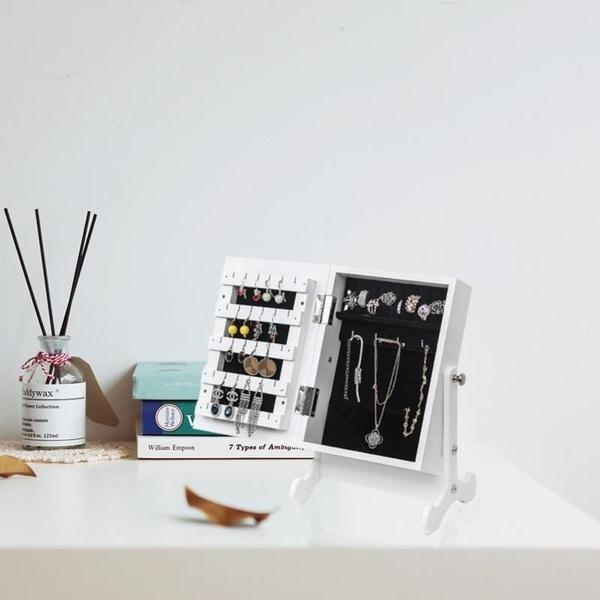 Shop Small Mirror Jewelry Cabinet Organizer Armoire ...