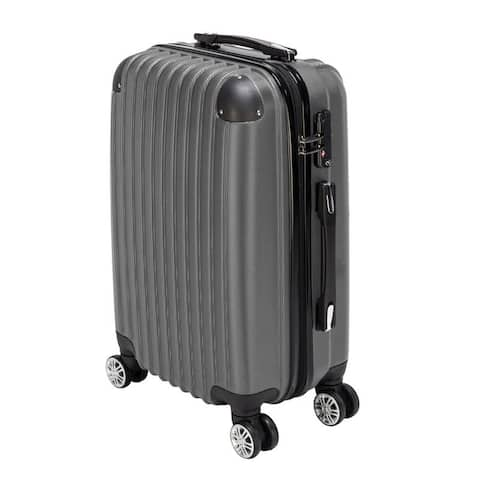 """20"""" Carry On Waterproof Spinner Luggage Travel Business Suitcase Rolling Wheels"""