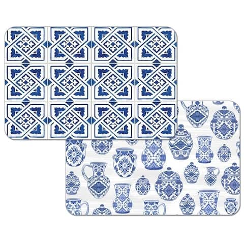 Reversible Wipe-clean Placemats Set of 4 - Blue Delft