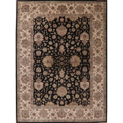 """Traditional Agra Oriental Carpet Hand Knotted Wool Indian Area Rug - 14'10"""" X 10'1"""""""