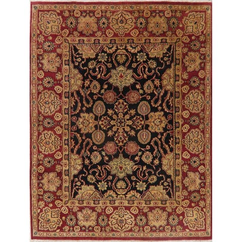 """Agra Oriental Traditional Carpet Hand Knotted Wool Indian Area Rug - 10'5"""" X 7'11"""""""