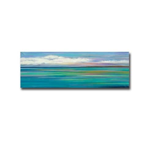 Turquoise Day by Mary Johnston Gallery Wrapped Canvas Giclee Art (12 in x 36 in)