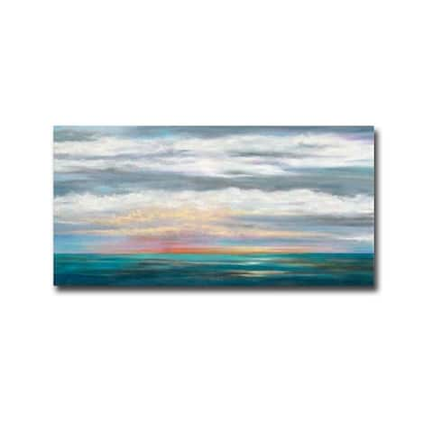 Over the Sea by Mary Johnston Gallery Wrapped Canvas Giclee Art (18 in x 36 in)