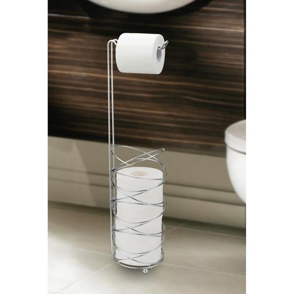 CHROME Toilet Paper Tissue Holder Plastic Roller Wire Style like vintage ones
