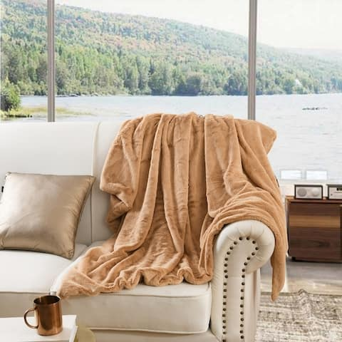 Faux fur Throw Blanket 50 by 60 Inches