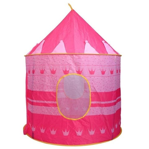Portable Folding Blue Play Tent Children Kids Castle Cubby Play House 2 Colors - N/A