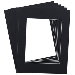 "15-Pack Black 11"" x 14"" Picture Matted Paper Frame Boards for 8"" x 10"" Photos"