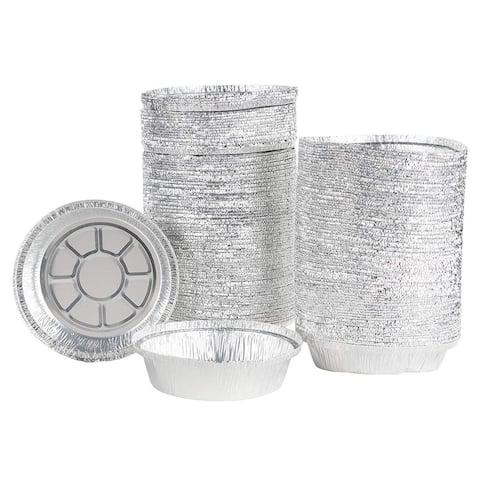 """200 Pcs Disposable Round Baking Aluminum Foil Pan Tin Temp up to 300-F 7.5""""x1.5"""""""