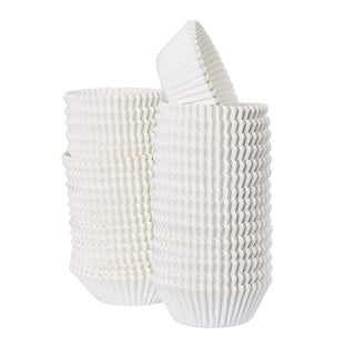 """1000PCS White Cupcake Liners Bulk Cupcake Wrappers Birthdays Party Deco, 2"""" x 1"""""""