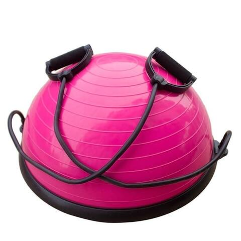 Balance Ball Trainer Half Yoga Exercise Ball with Resistance Bands for Yoga Fitness Home Gym Workout
