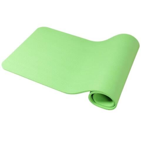 10mm Thick NBR Pure Color Anti-skid Yoga Mat 183x61x1cm