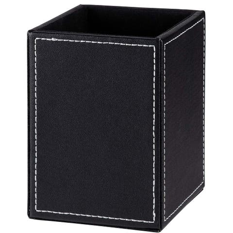 Paper Junkie Faux Leather Desktop Pen and Pencil Holder Stationery Organizer
