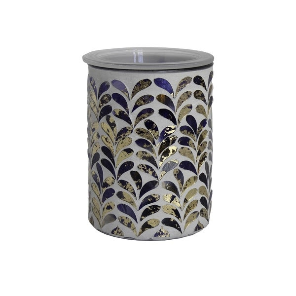 Scentsationals Home Indoor Decorative MOSAIC Royal Plume Full Size Wax Warmer