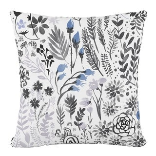 Skyline Furniture Polyester 18 x 18 Pillow in Winter Botanical
