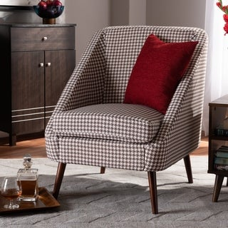 Gia Modern and Contemporary Houndstooth Accent Chair