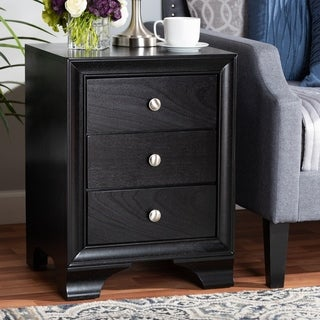Gordon Classic and Traditional 3-Drawer Nightstand
