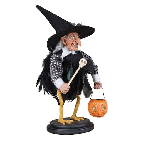 Stella Witch Crow on Stand Joe Spencer Gathered Traditions Art Doll