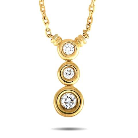 Scott Kay Yellow Gold Diamond Circle Pendant Necklace Length N/A