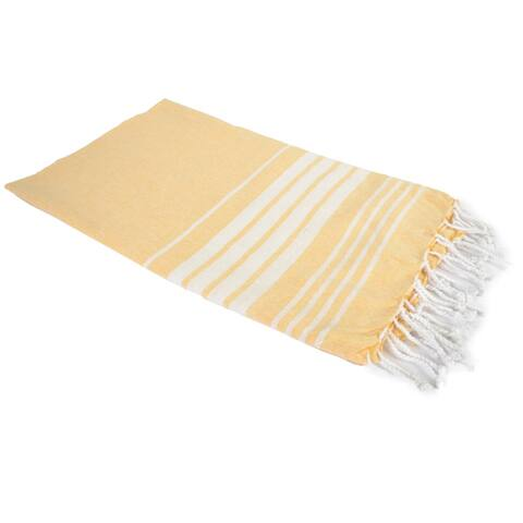 Porch & Den Parkwest Stripe Pattern Woven Cotton Throw Blanket