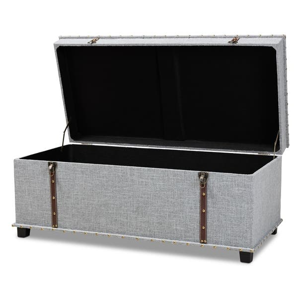 Sensational Shop Kyra Modern And Contemporary Upholstered Storage Trunk Squirreltailoven Fun Painted Chair Ideas Images Squirreltailovenorg